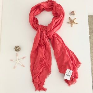 NWT J Crew Scarf - Coral